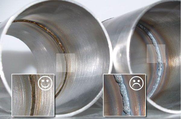 Обработка швов при сварки алюминия