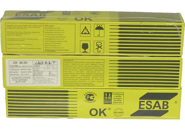 Электроды для сварки ОК 46 марки ESAB