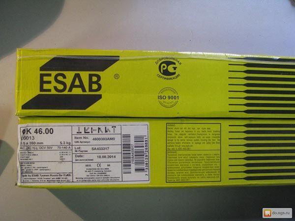 Электроды ОК 46 для ручной дуговой сварки