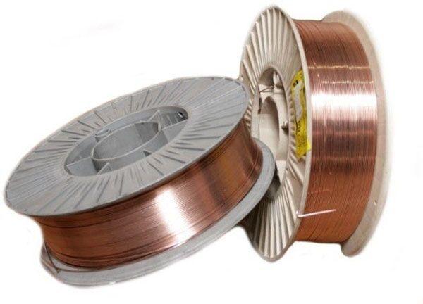 Проволока сварочная омедненная СВ08Г2С диаметром 1 мм