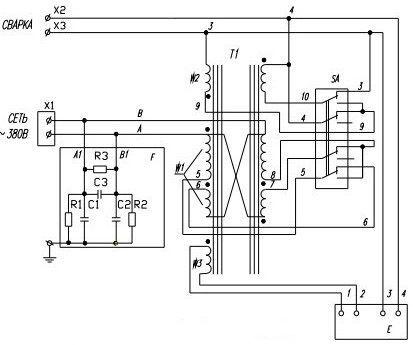 Схема подключение трансформатора ТДМ-401
