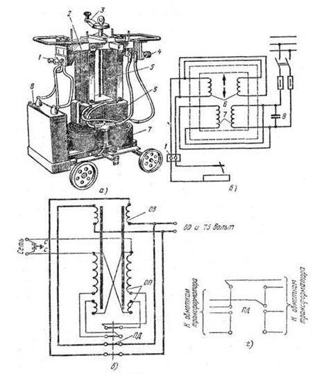 Устройство и схема подключения трансформатора ТД-500