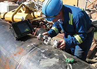 Контроль качества сварных соединений газопровода