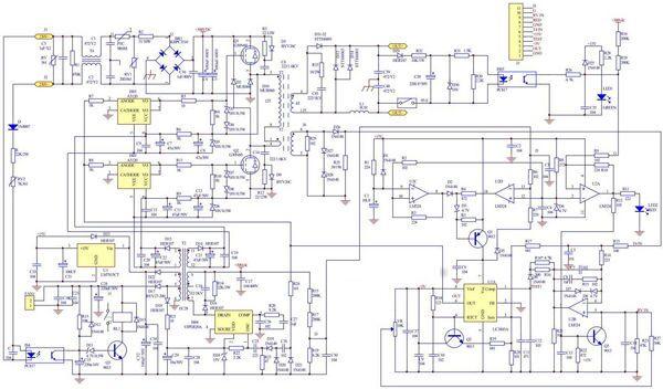 Схема сварочного инвертора Ресанта САИ 160