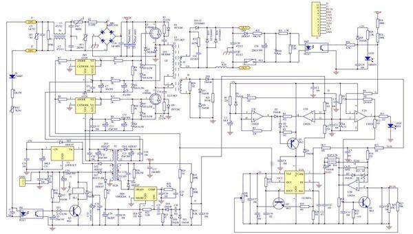 Схема инвертора Ресанта САИ 250