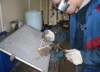 Пайка алюминиевого радиатора охлаждения