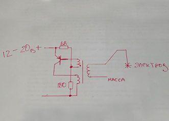 Принципиальная схема плазмотрона