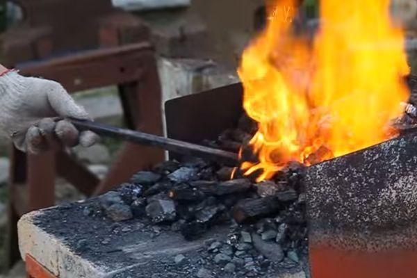 Процесс нагрева заготовки