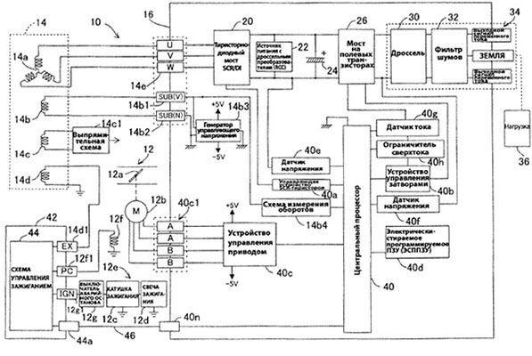 Электрическая схема инверторного генератора