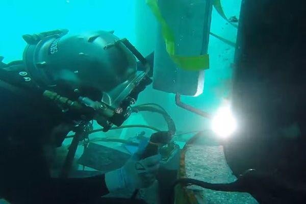 Процесс подводной сварки