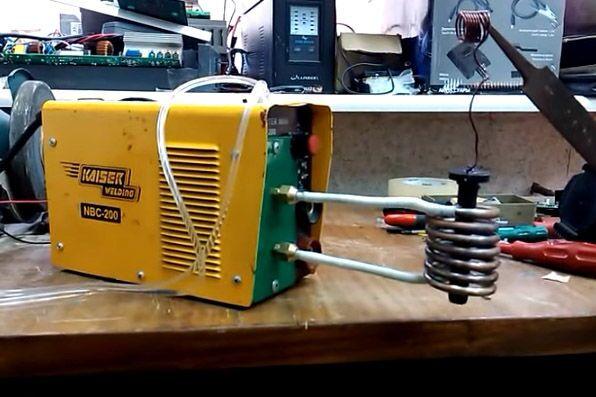 Внешний вид индукционного нагревателя из сварочного инвертора