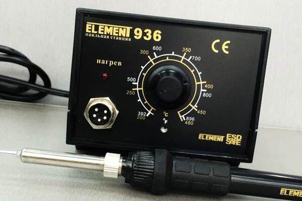Паяльник с регулировкой температуры Element 936