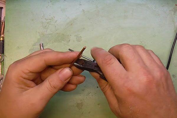 Обрезка материала для жала паяльника