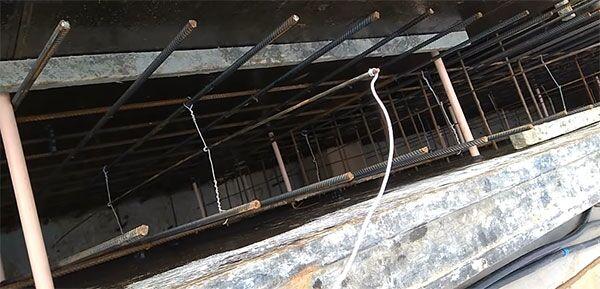 Обвязка электродов для прогрева бетонного фундамента