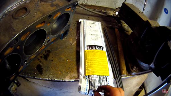 Электроды для сварки чугунного блока двигателя