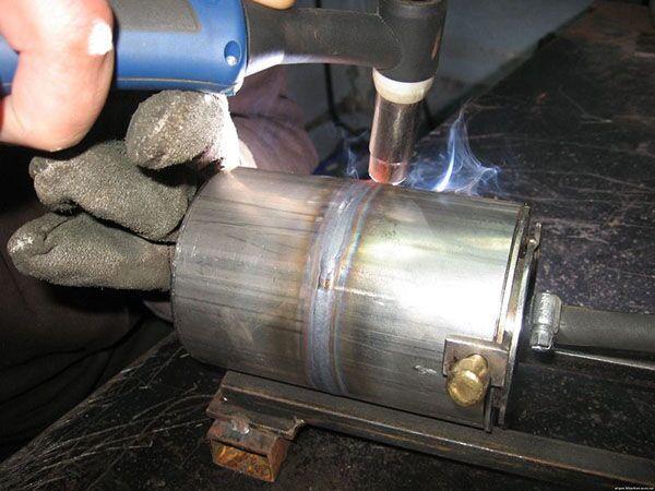 TIG сварка алюминия постоянным током