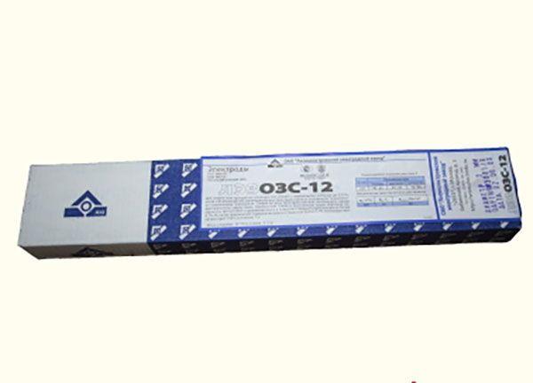 Электроды для сварки постоянным током марки ОЗС 12
