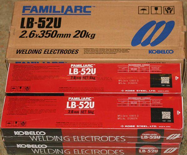 Электроды марки LB 52U