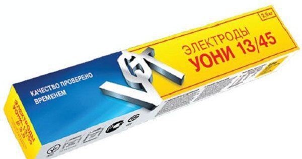 Электроды для сварки постоянным током марки УОНИ 13 45
