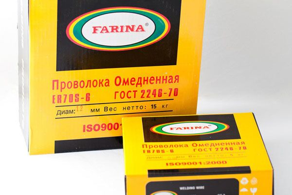 Сварочная проволока Farina в упаковке