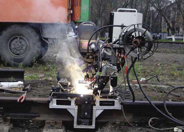 газопрессовая сварка рельсов