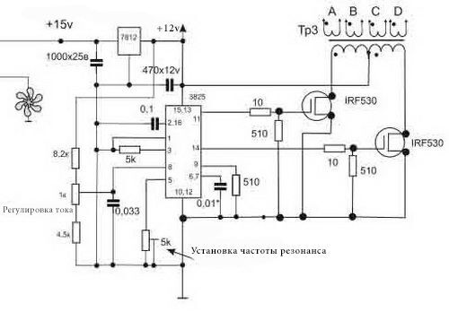 Схема простого инвертора