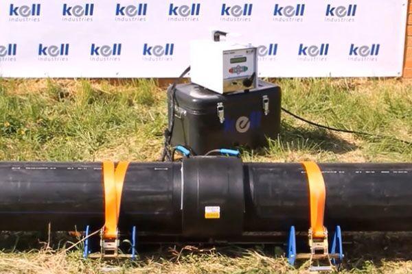 Процесс электромуфтовой сварки ПЭ труб