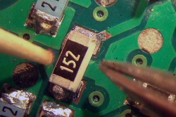 Процесс пайки SMD компонента