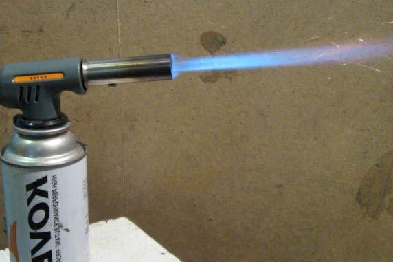 Газовая грелка вместо паяльника