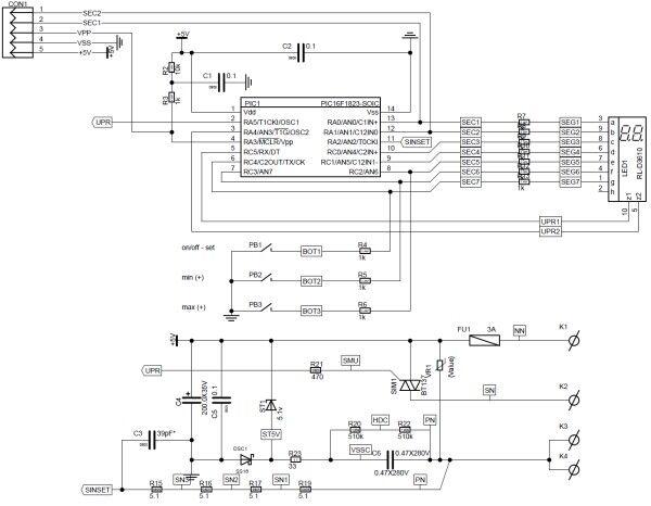 Схема регулятора мощности на микроконтроллере