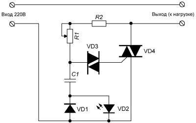 Регулятор мощности для паяльника на симисторе с индикацией